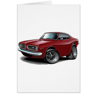 1967-69 Barracuda Maroon Car Card