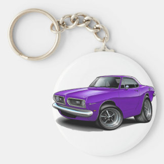 1967-69 Barracuda Purple Coupe Key Ring