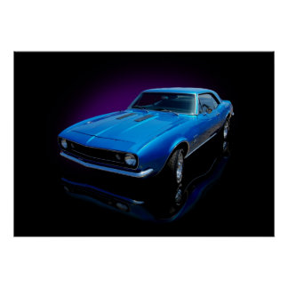 1967 blue coupe poster