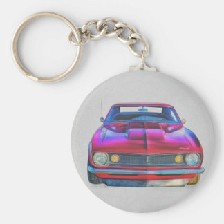1967 Camaro Coupe Basic Round Button Key Ring