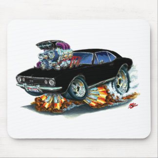 1967 Camaro SS Black Car Mouse Pad