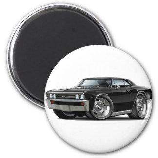 1967 Chevelle Black Car 6 Cm Round Magnet