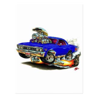1967 Chevelle Dark Blue Car Postcard