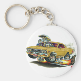 1967 Chevelle Gold Car Basic Round Button Key Ring