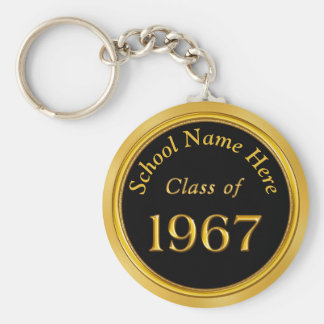 1967 Class Reunion Gifts PERSONALIZED Your COLORS Basic Round Button Key Ring