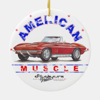 1967 Corvette American Muscle Christmas Ornament