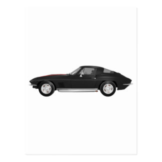 1967 Corvette Sports Car: Black Finish: Postcard