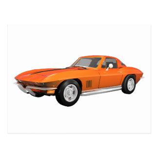 1967 Corvette Sports Car: Orange Finish Postcard
