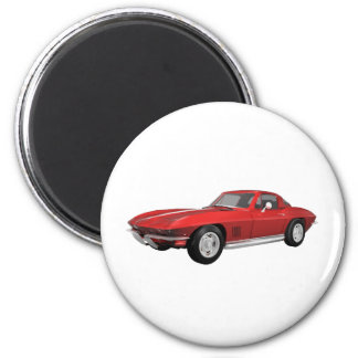 1967 Corvette: Sports Car: Red Finish: Magnet