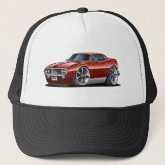 1967 Firebird Maroon Car Trucker Hat