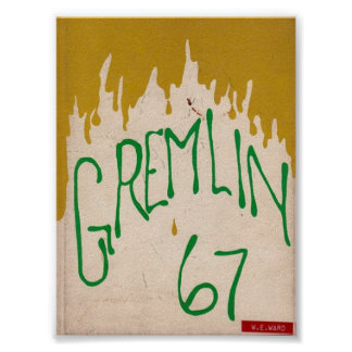1967 Graydon Gremlin Yearbook Poster