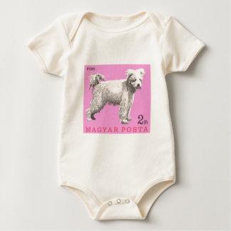 1967 Hungary Pumi Dog Postage Stamp Baby Bodysuit
