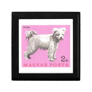 1967 Hungary Pumi Dog Postage Stamp Gift Box