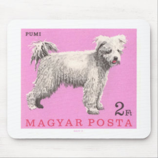 1967 Hungary Pumi Dog Postage Stamp Mouse Pad