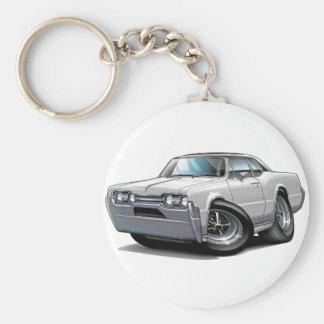1967 Olds Cutlass White-Black Car Key Ring