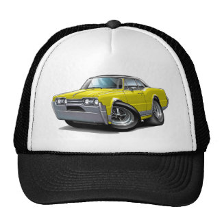 1967 Olds Cutlass Yellow-Black Car Cap