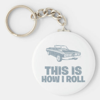 1967 Plymouth Barracuda Basic Round Button Key Ring