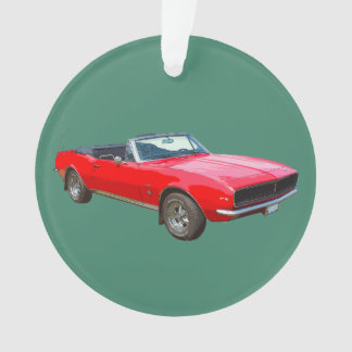 1967 Red Convertible Camaro Muscle Car Ornament