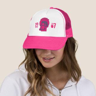 1967 Skull -Logo Hot Pink Trucker Hat