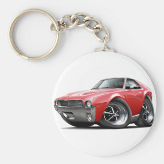 1968-69 AMX Red Car Basic Round Button Key Ring