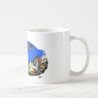 1968-69 Chevelle Blue White Car Coffee Mug