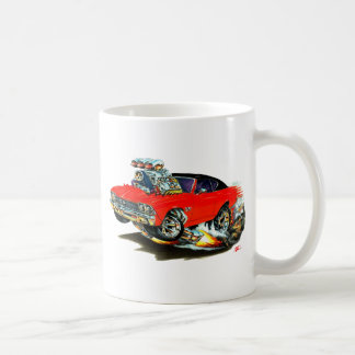 1968-69 Chevelle Red and Black Top Car Coffee Mug