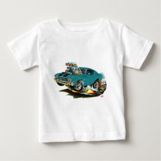 1968-69 Chevelle Teal-Black Car Baby T-Shirt