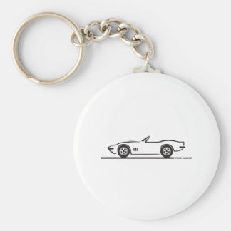 1968-69 Corvette Convertible Basic Round Button Key Ring
