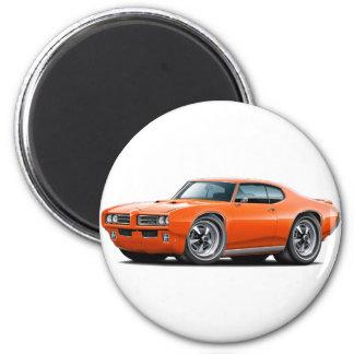 1968-69 GTO Orange Car Magnet