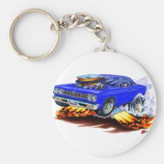 1968-69 Roadrunner Blue Car Key Ring