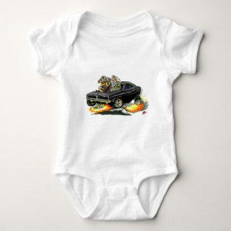 1968-70 Charger Black Car Baby Bodysuit