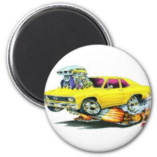 1968-70 Nova Yellow Car 6 Cm Round Magnet