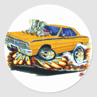 1968-71 Dodge Dart Orange Car Classic Round Sticker