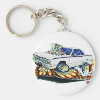 1968-71 Dodge Dart White Car Key Ring