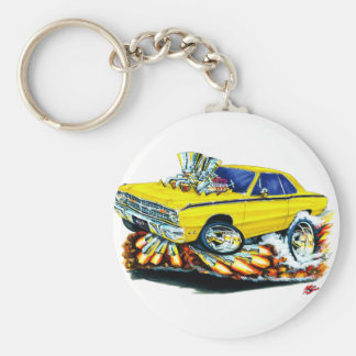 1968-71 Dodge Dart Yellow Car Key Ring