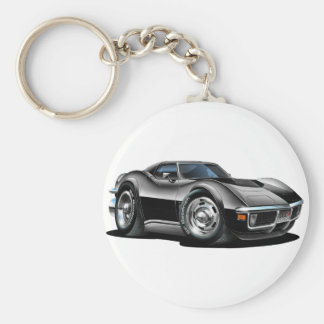 1968-72 Corvette Black Car Key Ring