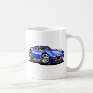 1968-72 Corvette Blue Car Coffee Mug