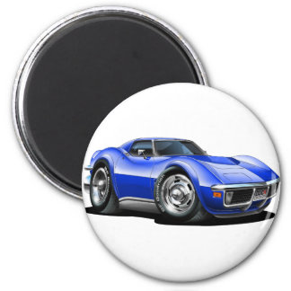 1968-72 Corvette Blue Car Magnet