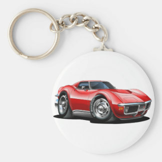 1968-72 Corvette Red Car Key Ring