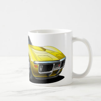 1968-72 Corvette Yellow Car Coffee Mug