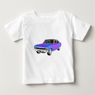 1968 AM Muscle Car in Purple and Blue Baby T-Shirt