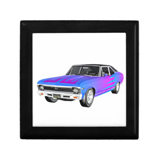 1968 AM Muscle Car in Purple and Blue Gift Box