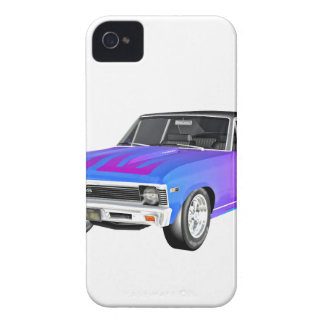 1968 AM Muscle Car in Purple and Blue iPhone 4 Cover