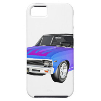 1968 AM Muscle Car in Purple and Blue iPhone 5 Cases