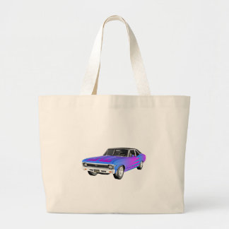 1968 AM Muscle Car in Purple and Blue Large Tote Bag