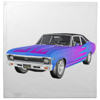 1968 AM Muscle Car in Purple and Blue Napkin
