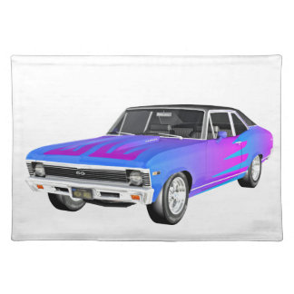 1968 AM Muscle Car in Purple and Blue Placemat