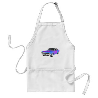 1968 AM Muscle Car in Purple and Blue Standard Apron