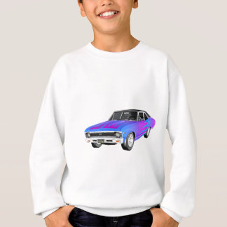 1968 AM Muscle Car in Purple and Blue Sweatshirt
