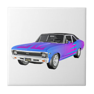 1968 AM Muscle Car in Purple and Blue Tile